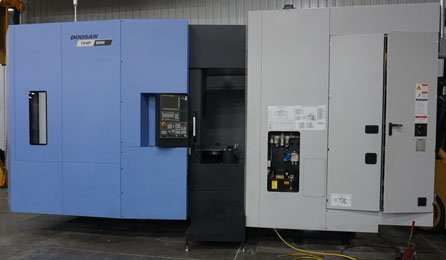 A Doosan CNC machine.